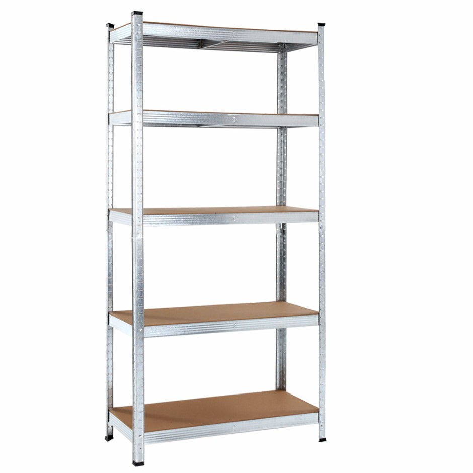 Giantz 0.9M 5-Shelves Steel Warehouse Shelving Racking Storage Rack Silver