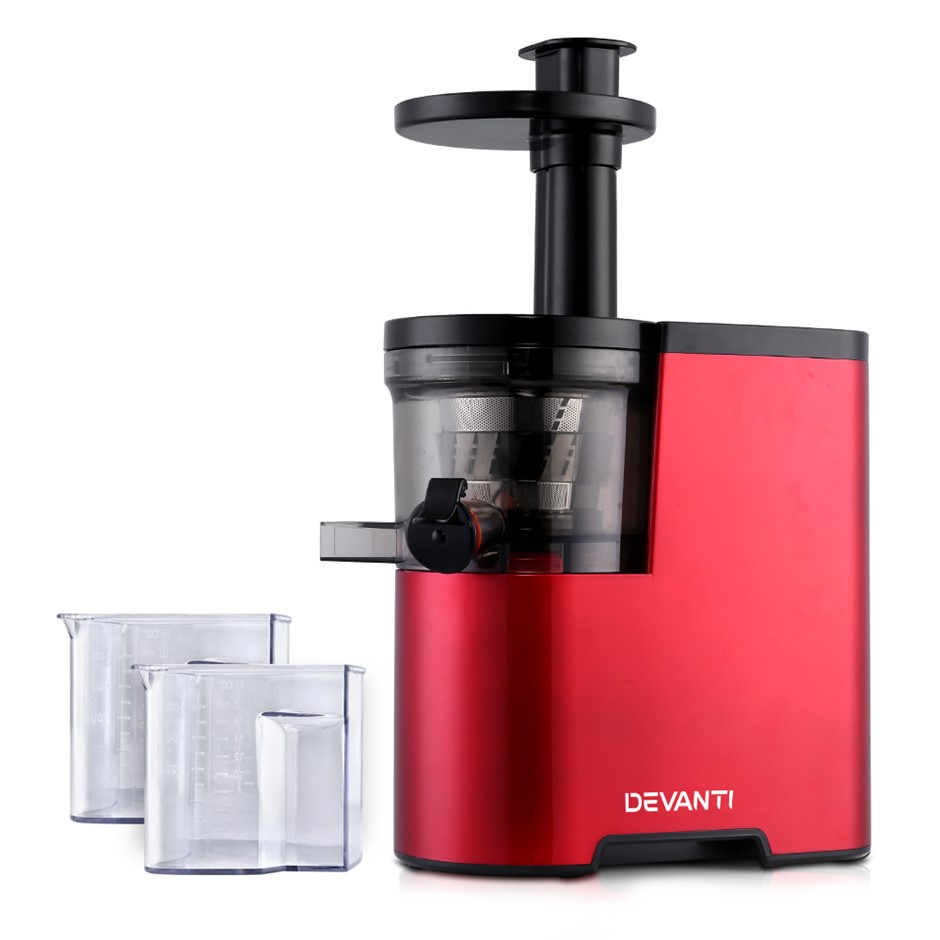 Devanti Cold Press Slow Juicer - Red