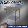 Unused 760mm x 610mm Stainless Steel Bench