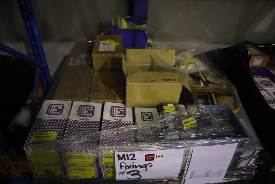 Pallet of fixings (M12)