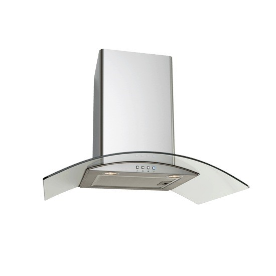 Euro 70cm Glass Canopy Rangehood, Model: EAGL700S