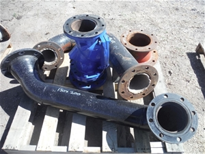 Pallet 150mm Discharge Pipework for Pump