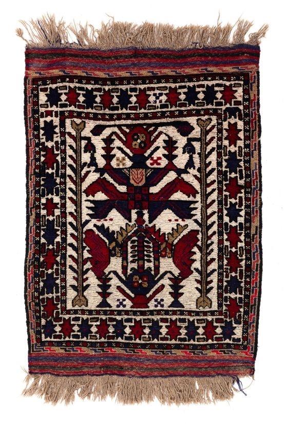 Persian Soumak Flat Weave Rug Size