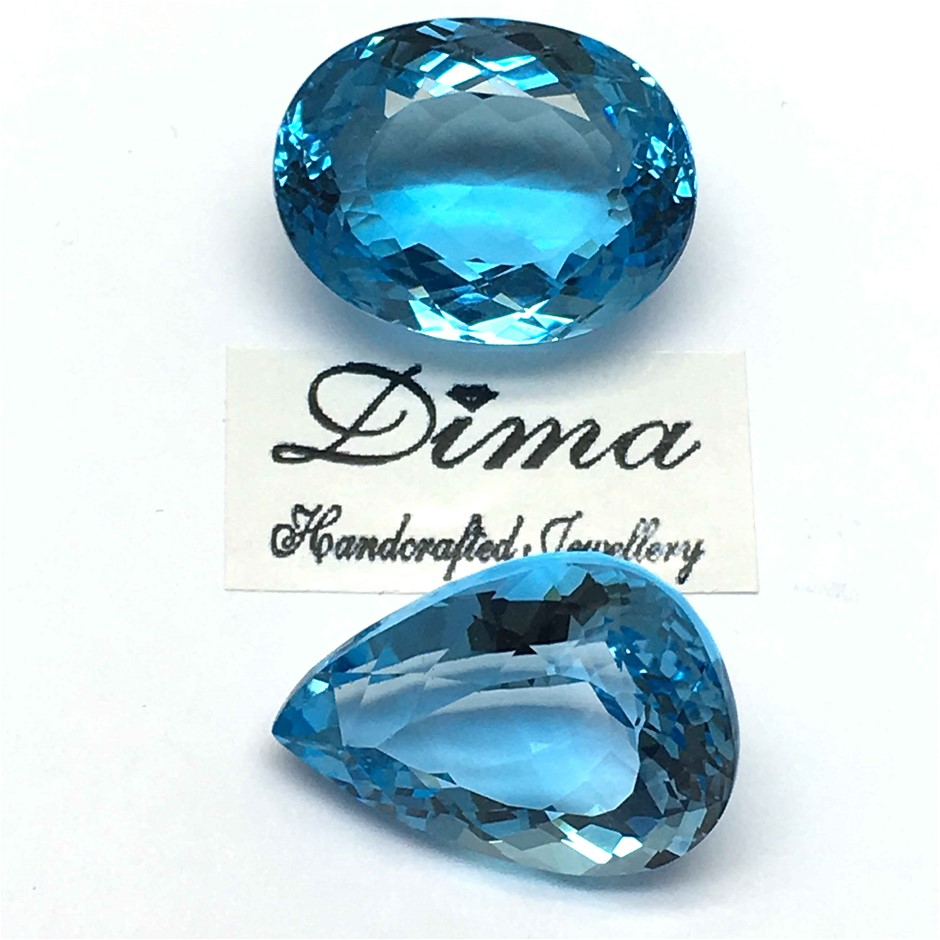 Two Loose Blue Topaz, 87.50ct in Total