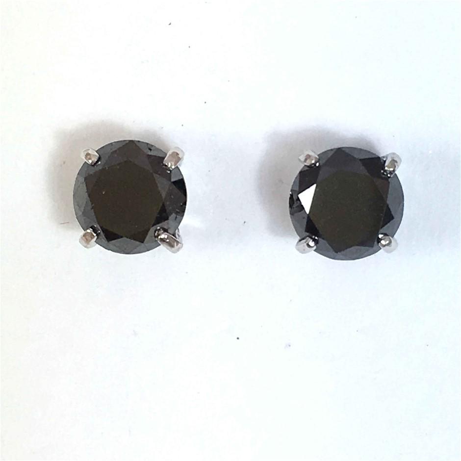 18ct White Gold, 2.60ct Diamond Earring