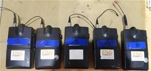 5 x Shure P6R-HA Wireless Bodypack Recei