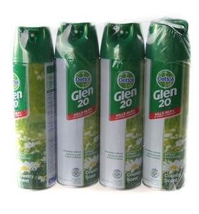 4 x GLEN 20 Disinfectant Sprays, Country