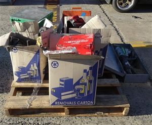 Pallet of Assorted Tools/Industry Fan in
