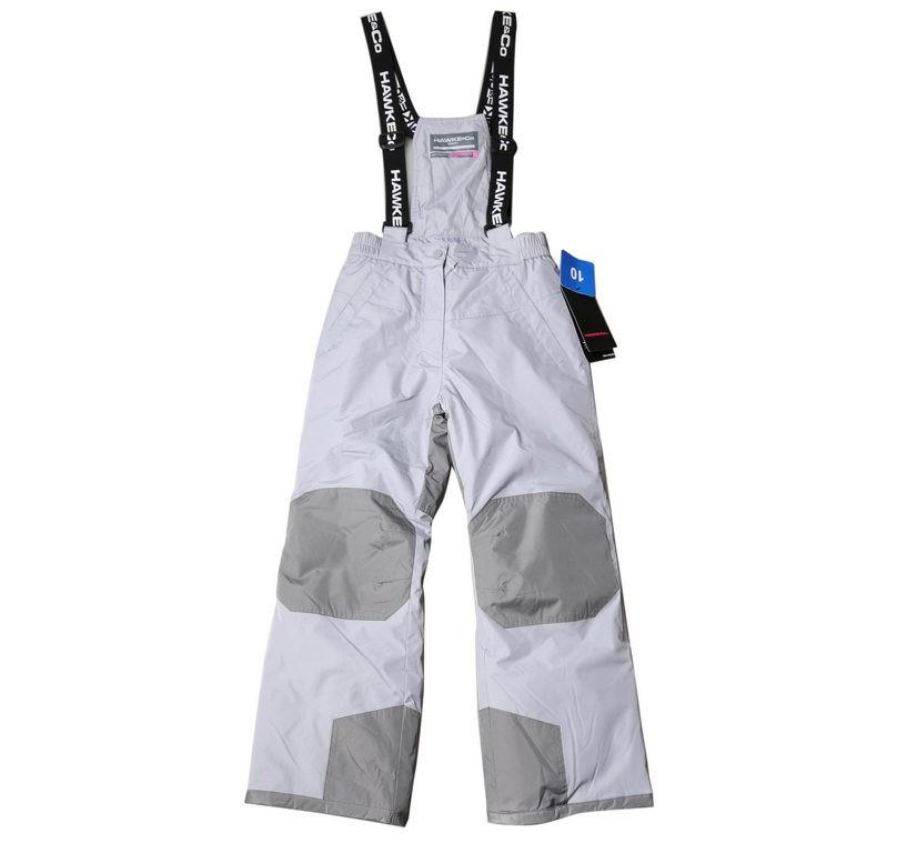 HAWKE & CO Junior Girls Ski Pants with Suspenders, Size 10, Dynamic Sport F