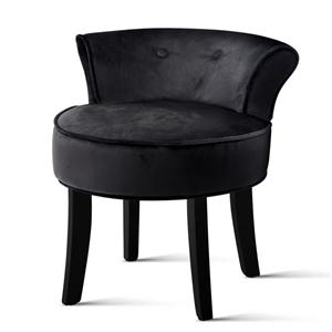 Artiss Velvet Vanity Stool Backrest Stoo