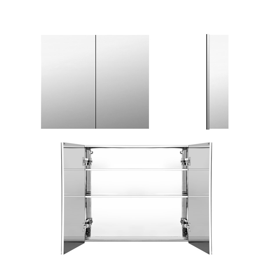 Cefito Stainless Steel Bathroom Mirror Cabinet Storage 750x720mm Silver