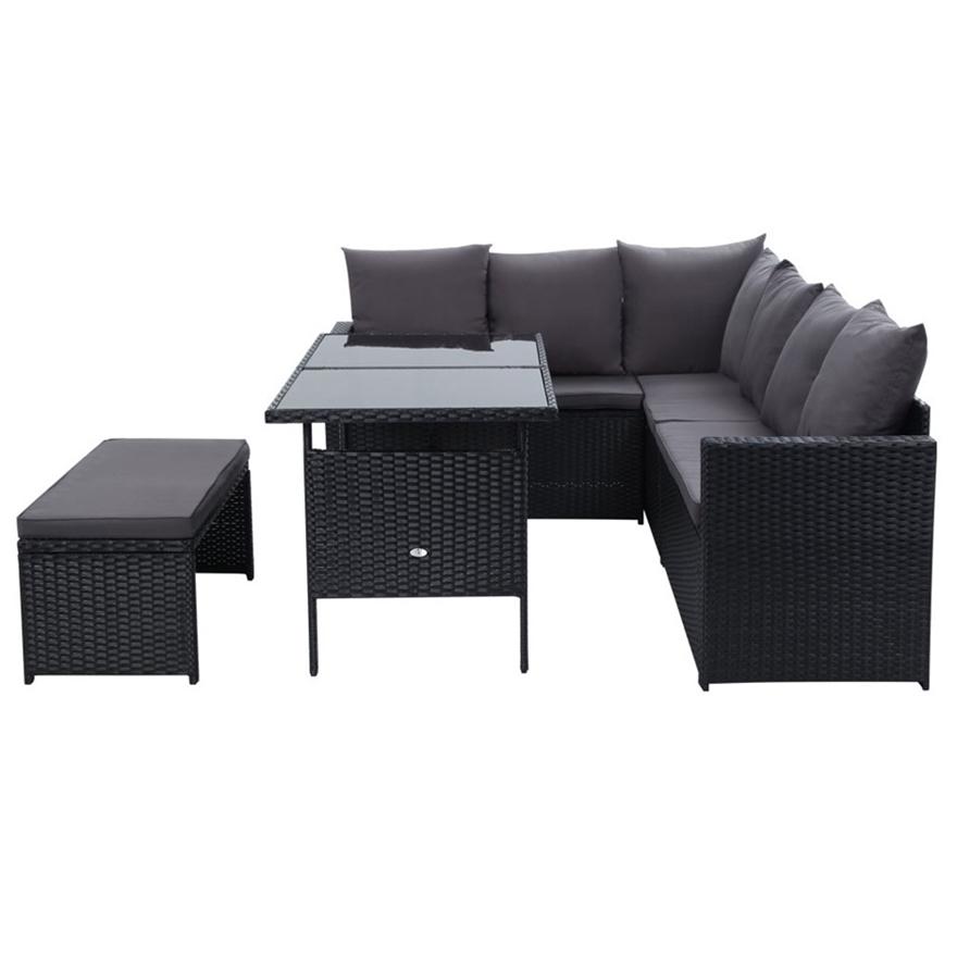 Buy Gardeon Outdoor Furniture Dining Sofa Set Wicker 8 ...
