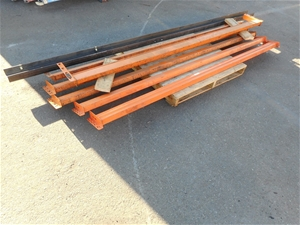 Bulk Lot Of Assorted Metal/ Racking Acce