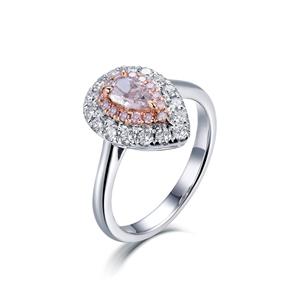 18ct Rose Gold, 0.88ct Pink Diamond Enga