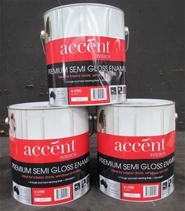 Qty 3 x Accent 4L Premium Semi Gloss Ena