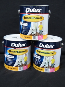 Qty 3 x Dulux 4L Super Enamel High Gloss