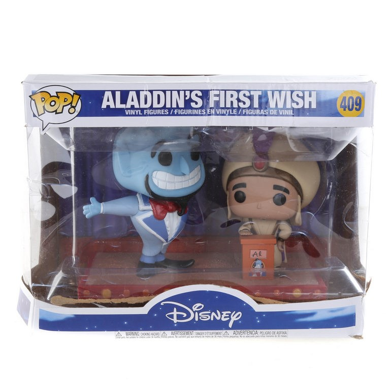 DISNEY ALADDIN`S First Wish Vinyl Figures. N.B. Package Damaged. Buyers Not