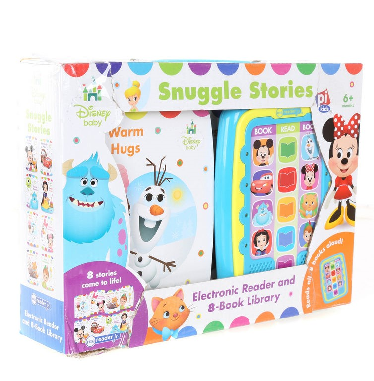 DISNEY BABY Snuggle Stories Electronic Reader & 8-Book Set. Buyers Note - D