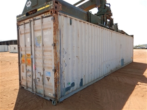Container, 40 Foot, High Cube with Conte