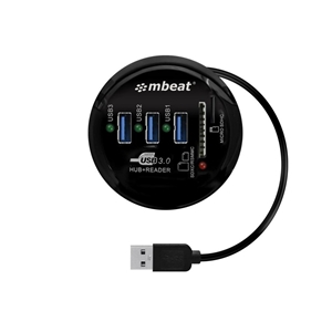 mbeat MB-HCR518 USB 3.0 3-Port Hub+SD/Mi