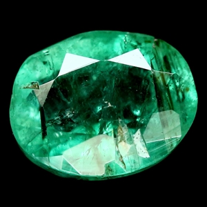 0.80ct. Oval Facet Natural Green Emerald