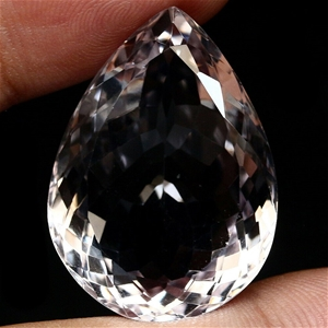 Massive 47.9ct. Pear Facet Natural Light
