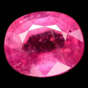 8.43ct. Genuine Oval Facet Pink Ruby