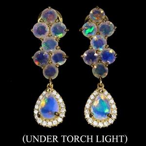 Spectacular Genuine Fire rainbow Opal Dr