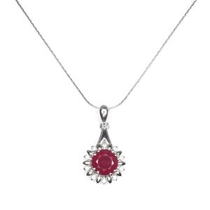 Delightful Genuine Ruby Pendant & Chain.