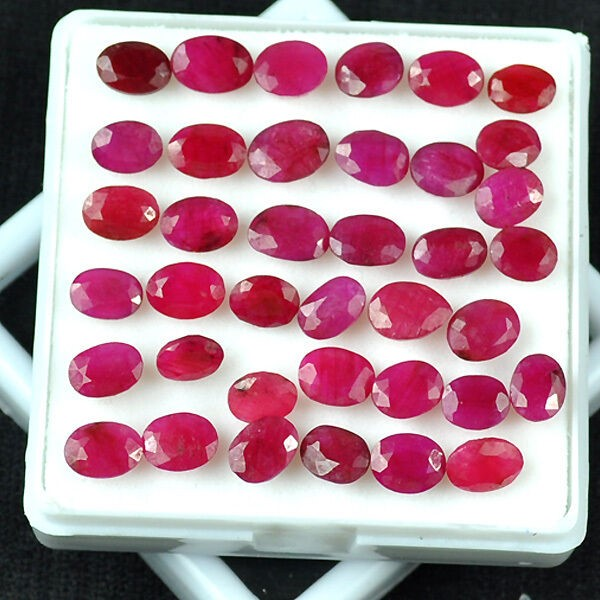 Thirty Eight Loose Rubies 77.48ct in Total