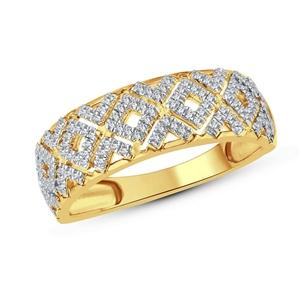 9ct Yellow Gold, 0.19ct Diamond Ring