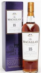 Macallan 18 Year Sherry Oak Old Scotch Whisky (1x 700mL),Highlands,Scotland