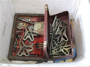 Box of Assorted Pullers and Sundry Items