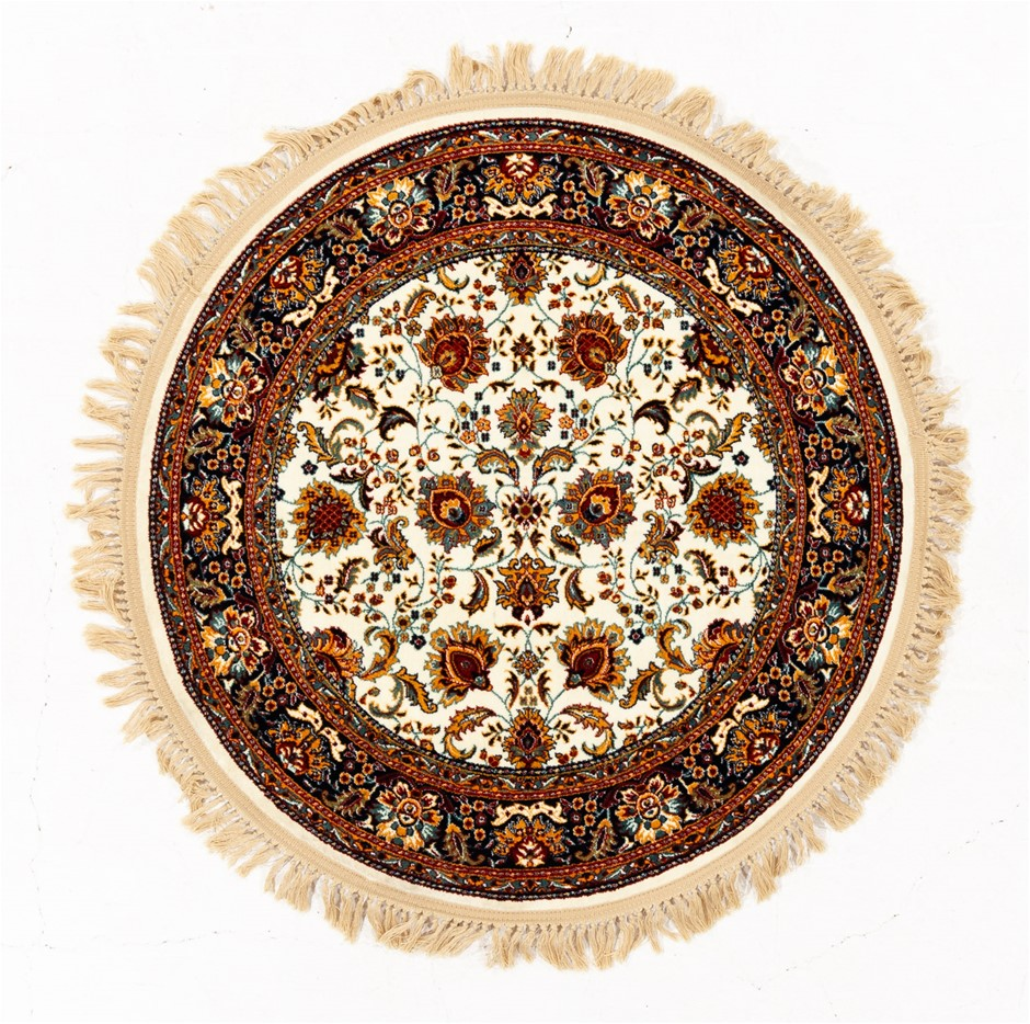 Machine Made Art Silk Pile Circle Floor Rug Size (cm): 100 x 100