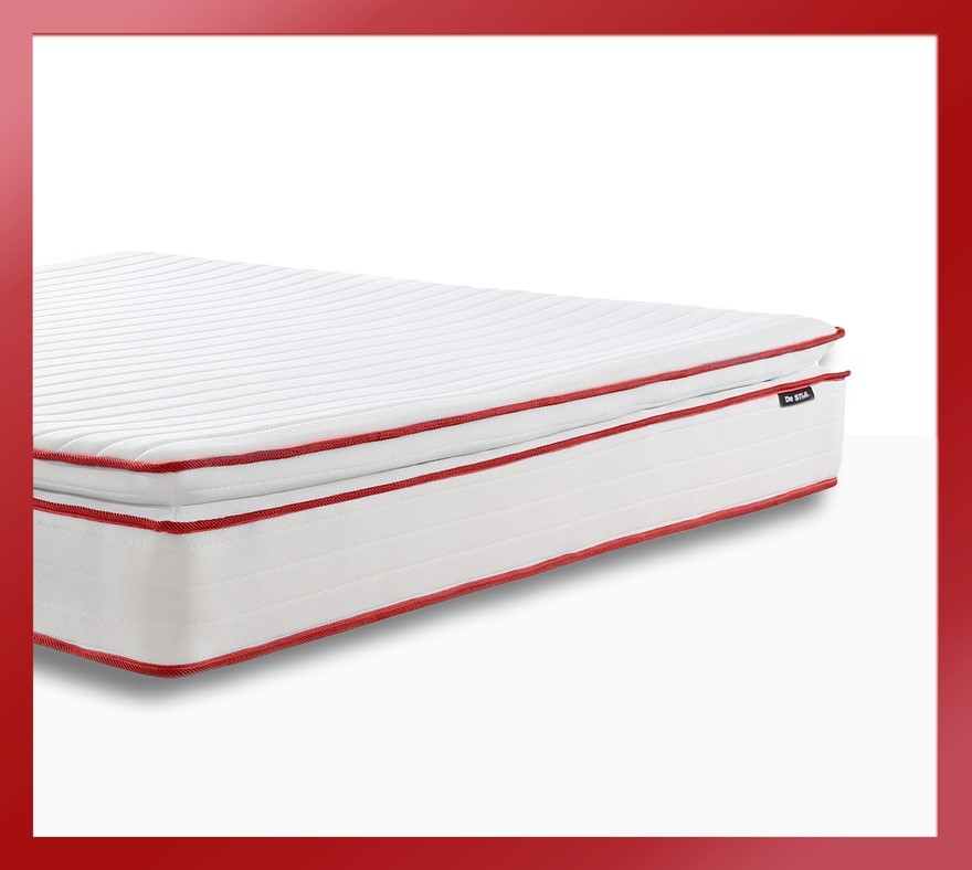 Apollo Red - Pillow Top Mattress with Two Thousand mini springs*, Queen