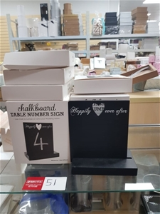 """Table Stands """"Chalk Boards"""" 14 in total"""