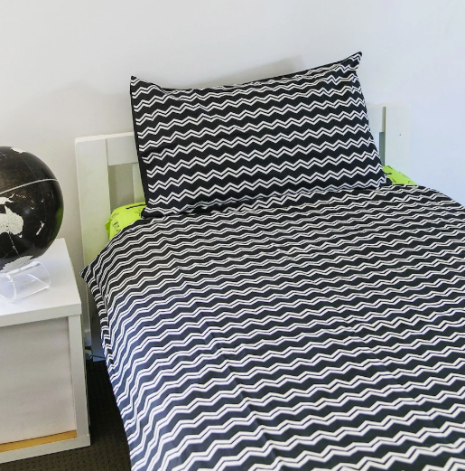Camping Quilt Cover - Shadow/ZigZag - Double Size