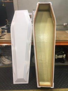 Salmon Fibreglass Coffin