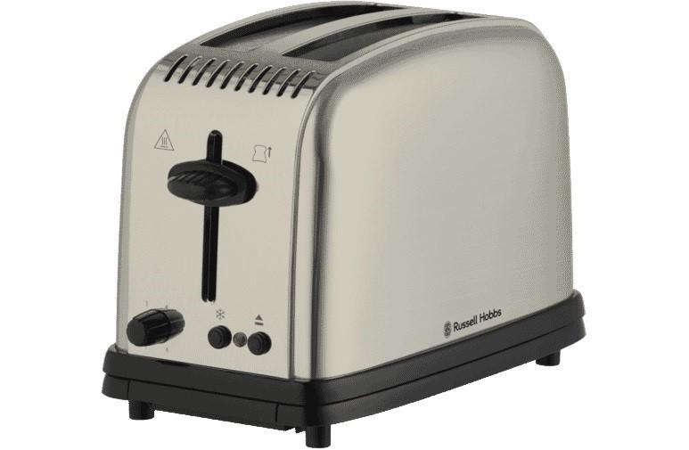 Russell Hobbs RHT12BRU Classic 2 Slice Toaster - Brushed