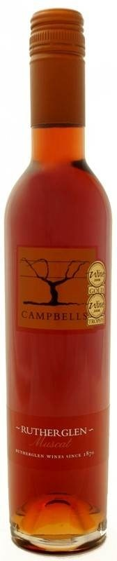 Campbells Rutherglen Muscat NV (12 x 375mL, half bottle), VIC.