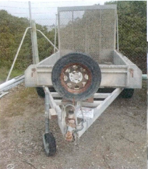 2004 Built Tough 8x5 Tandem Trailer with ramps