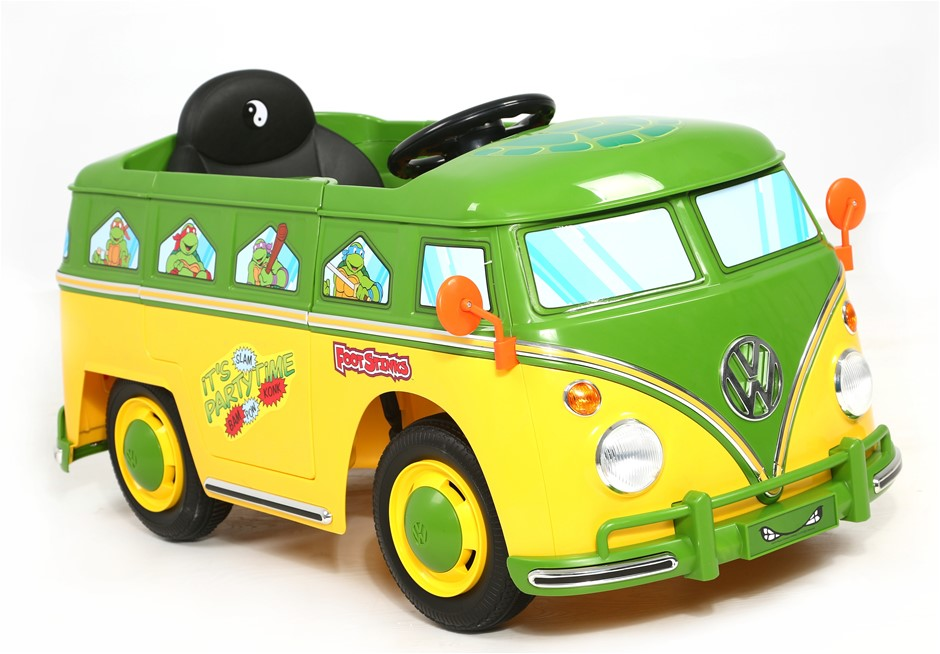 Teenage Mutant Ninja Turtles VW Electric Ride On Bus - V6