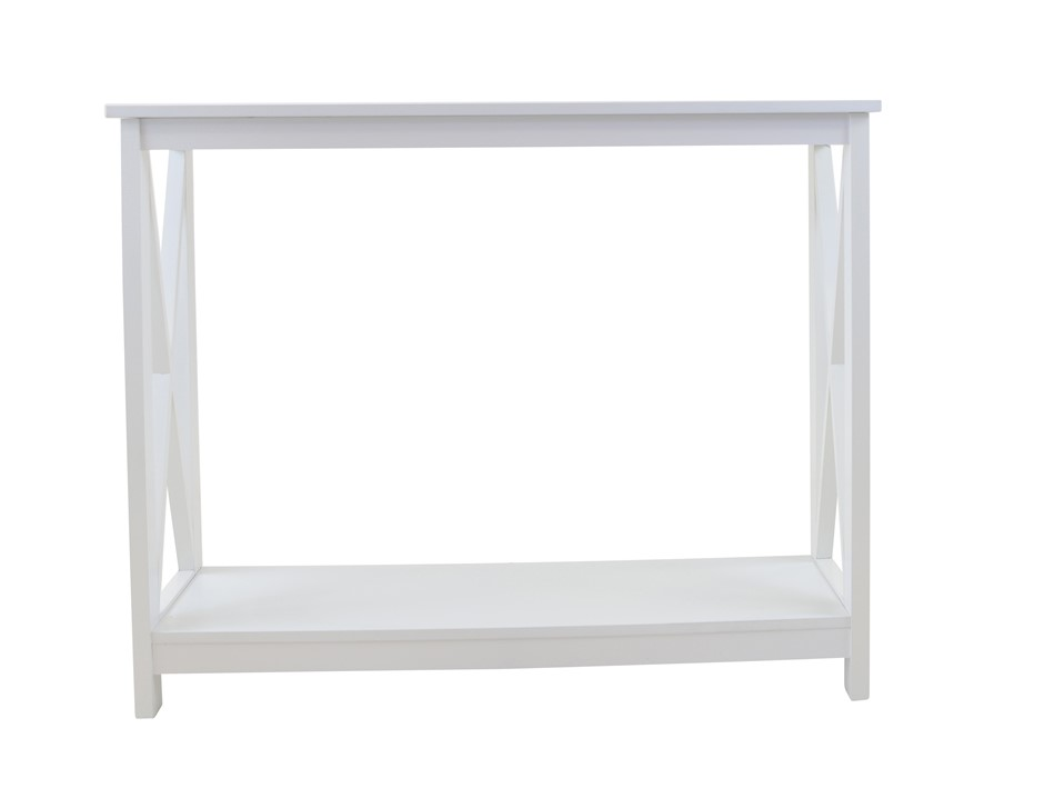 Long Island 1 Shelf Console Table 100cm - White