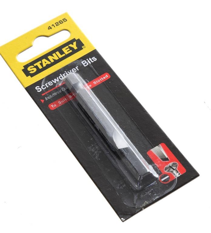 10 STANLEY Slotted Screwdriver Screwdriver Bits 1/4ins x 49mm 8-10 Gauges B