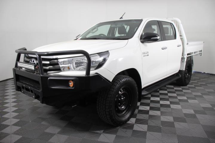 2016 Toyota Hilux SR (4x4) T/Diesel Auto Dual Cab Chassis 143,717km