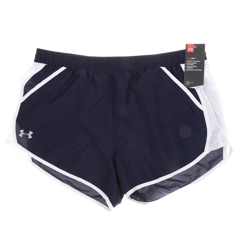 2 x UNDER ARMOUR Women`s s Shorts, Size L, 100% Polyester Blue/White. Buyer