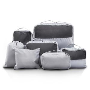 Wanderlite 7PCS Grey Luggage Organiser S