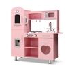 Keezi Kids Kitchen Set Pretend Play Food Sets Utensils Wooden Toy Pink