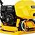 "Giantz 23"" Plate Compactor 6.5HP Compactors 95KG Vibration Rammer w/ Wheels"