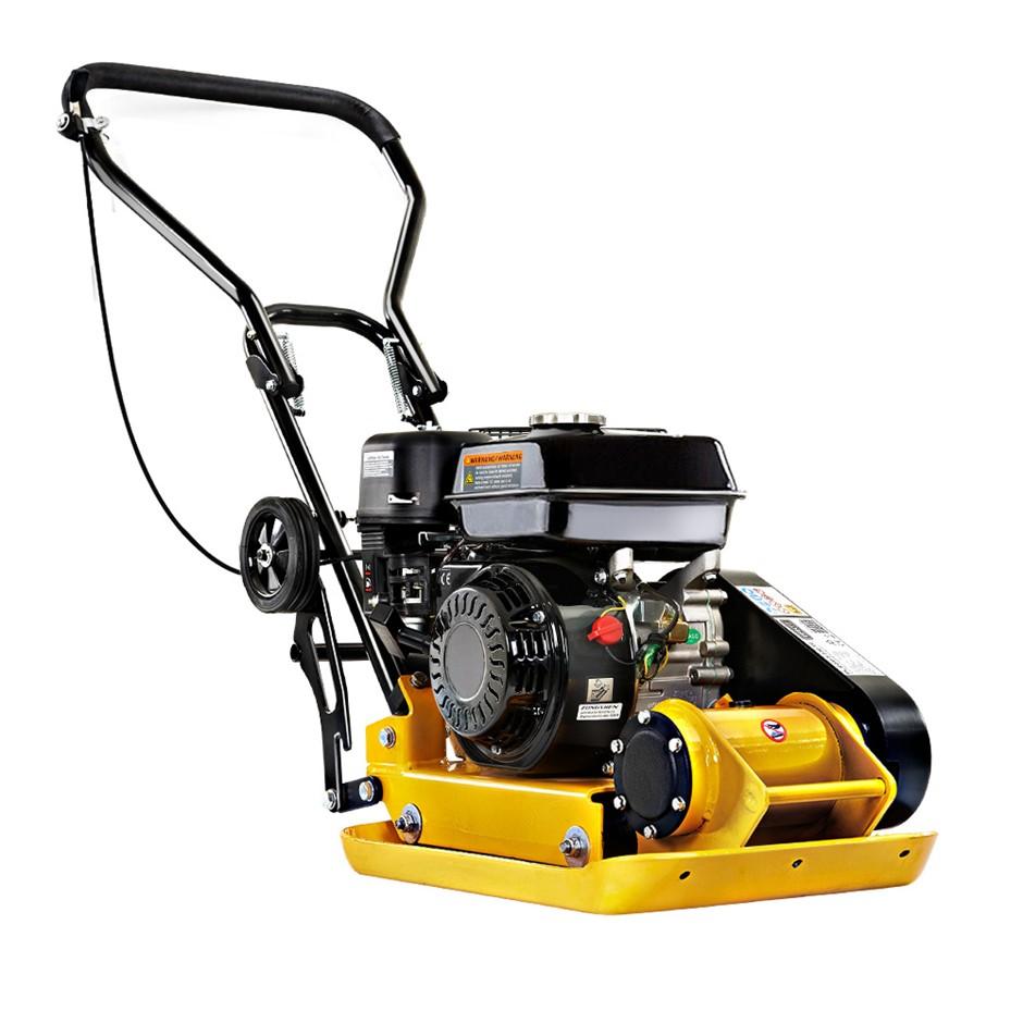 "Giantz 21"" Plate Compactor 6.5HP Compactors 61KG Vibration Rammer w/ Wheels"